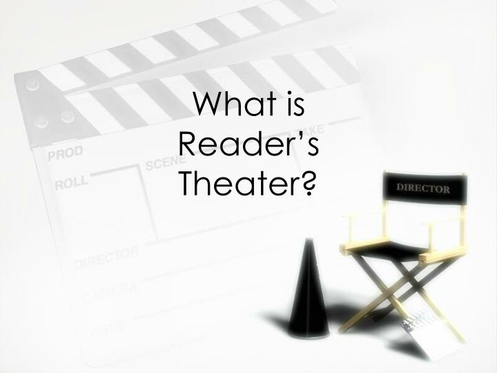what is reader s theater n.