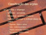 classifica o das argilas1