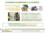 lo spreco alimentare e la poverta