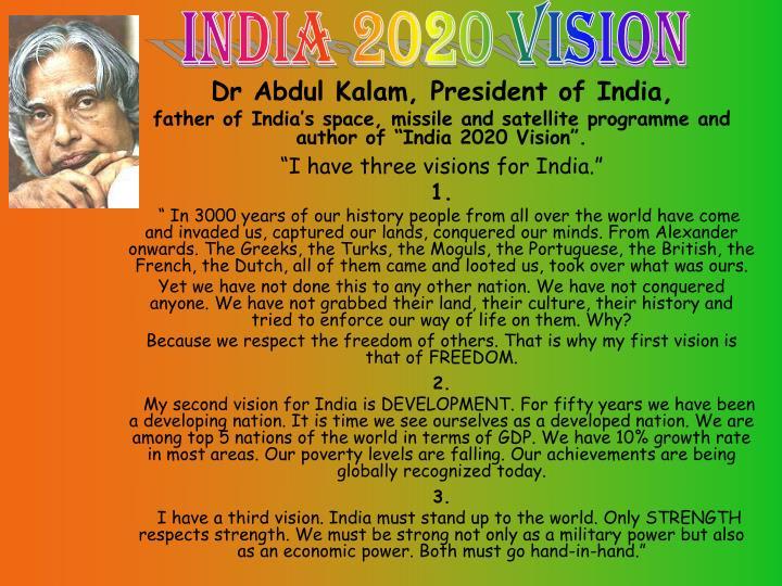 India 2020 vision