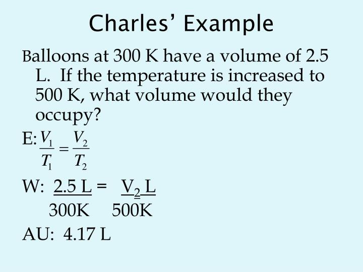 Charles' Example