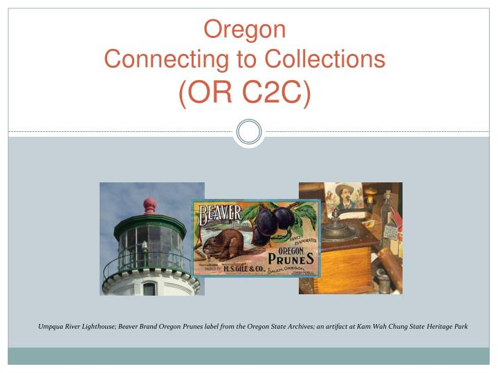 oregon connecting to collections or c2c n.