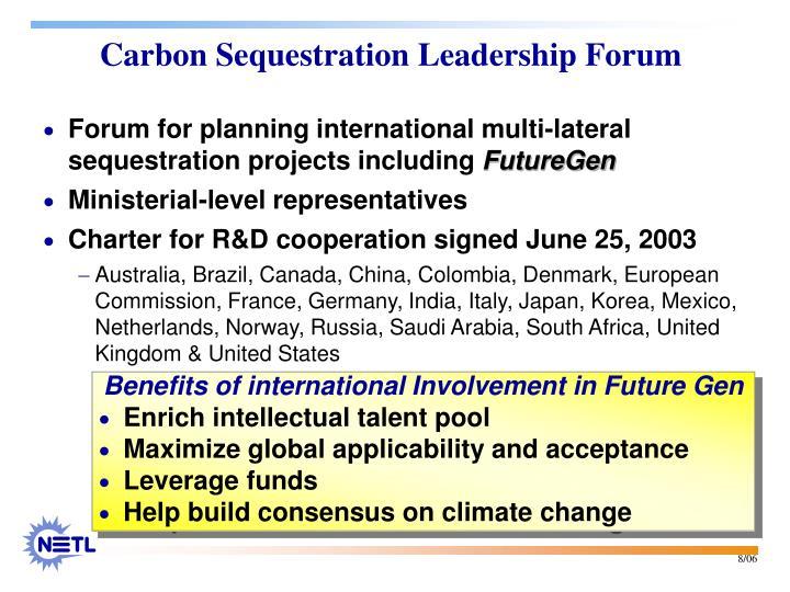 Forum for planning international multi-lateral sequestration projects including