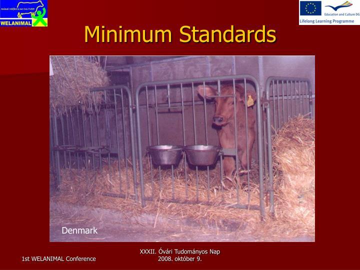Minimum Standards