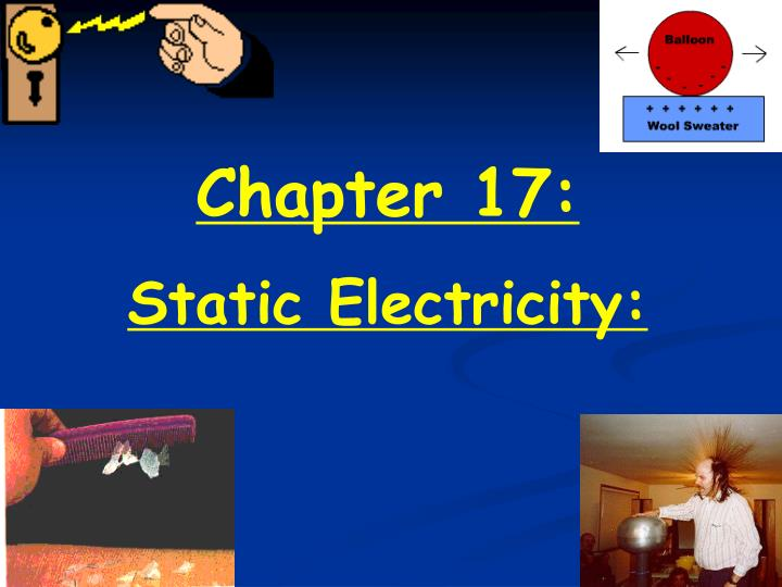understanding static electricity and its phenomena Both phenomena can exist simultaneously in the same system static electricity is a buildup of electric charges on two objects that have become separated from.