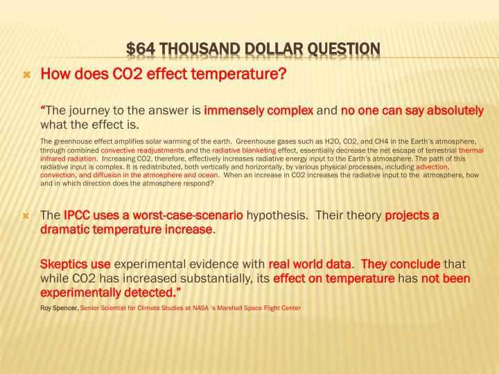 How does CO2 effect temperature?