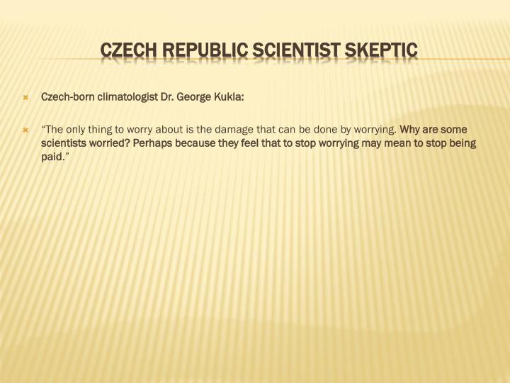 Czech-born climatologist Dr. George Kukla: