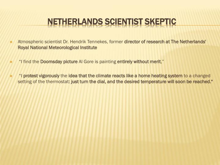 Atmospheric scientist Dr. Hendrik Tennekes, former