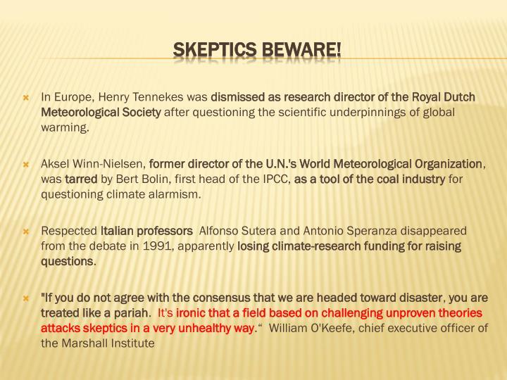 In Europe, Henry Tennekes was