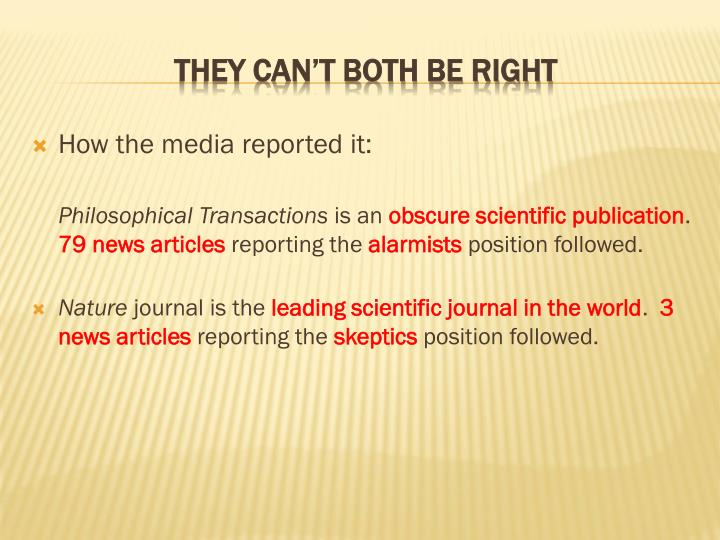 How the media reported it: