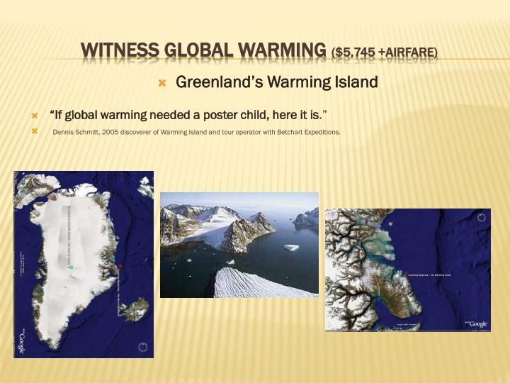 Greenland's Warming Island