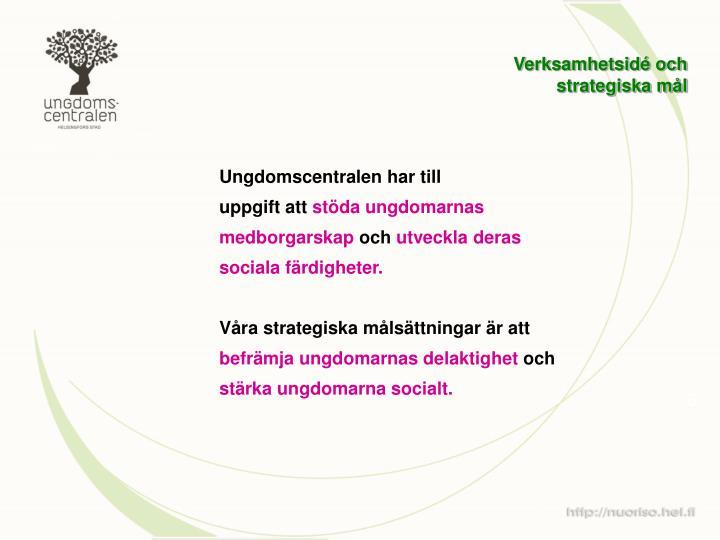 Verksamhetsidé och strategiska mål