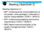 meeting objectives i