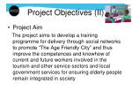 project objectives ii