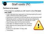 staff costs iv