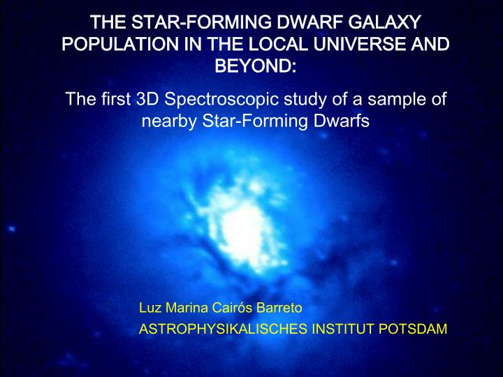 THE STAR-FORMING DWARF GALAXY POPULATION IN THE LOCAL UNIVERSE AND BEYOND: