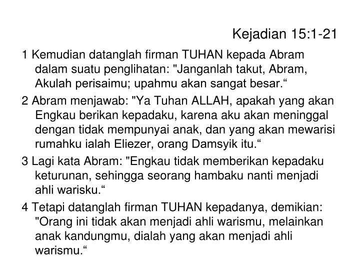 Kejadian 15 1 21