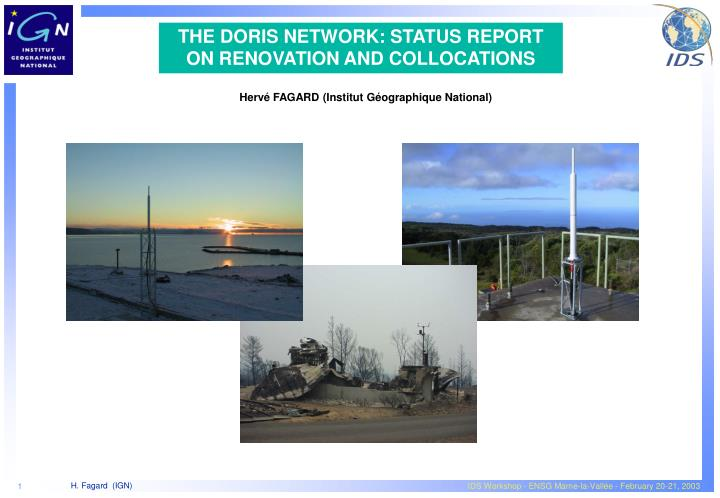 the doris network status report on renovation and collocations
