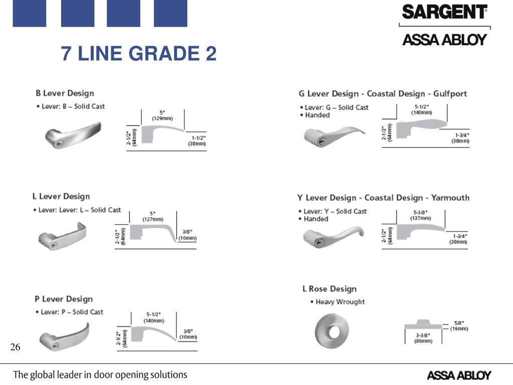 Sargent 28-7G04-LB-10B Grade 2 Storeroom US10B Oil Rubbed Dark Bronze 2-3//4 Backset 2-3//4 Backset Sargent Manufacturing Co.