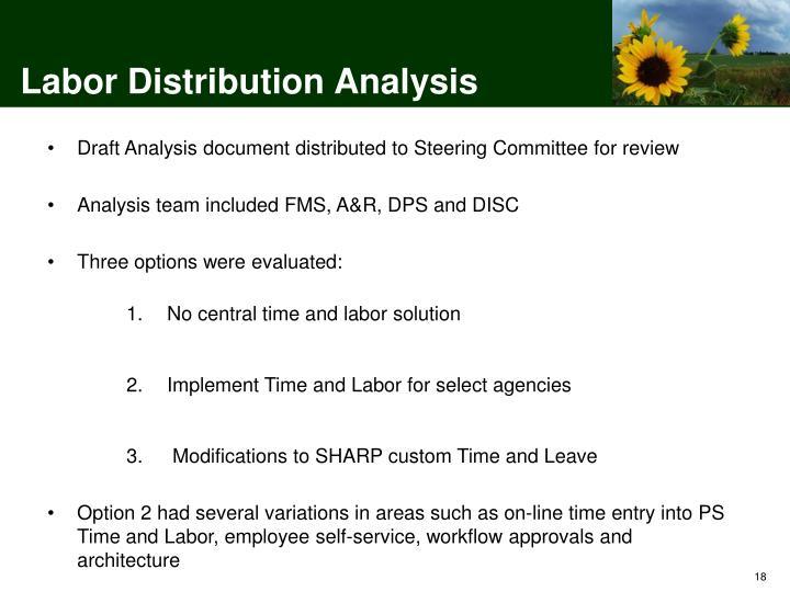 Labor Distribution Analysis