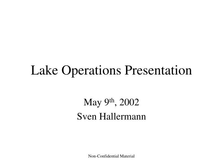 lake operations presentation n.