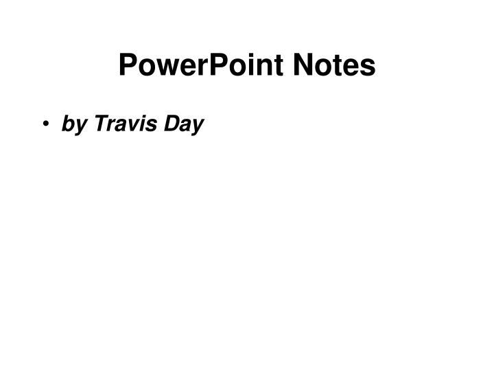 powerpoint notes n.
