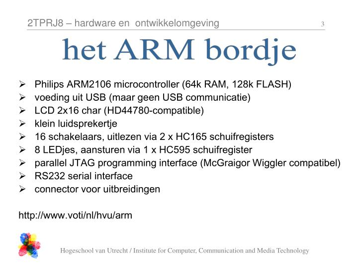 Het ARM bordje