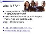 what is ffa