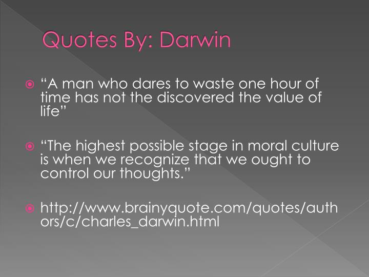 Quotes By: Darwin