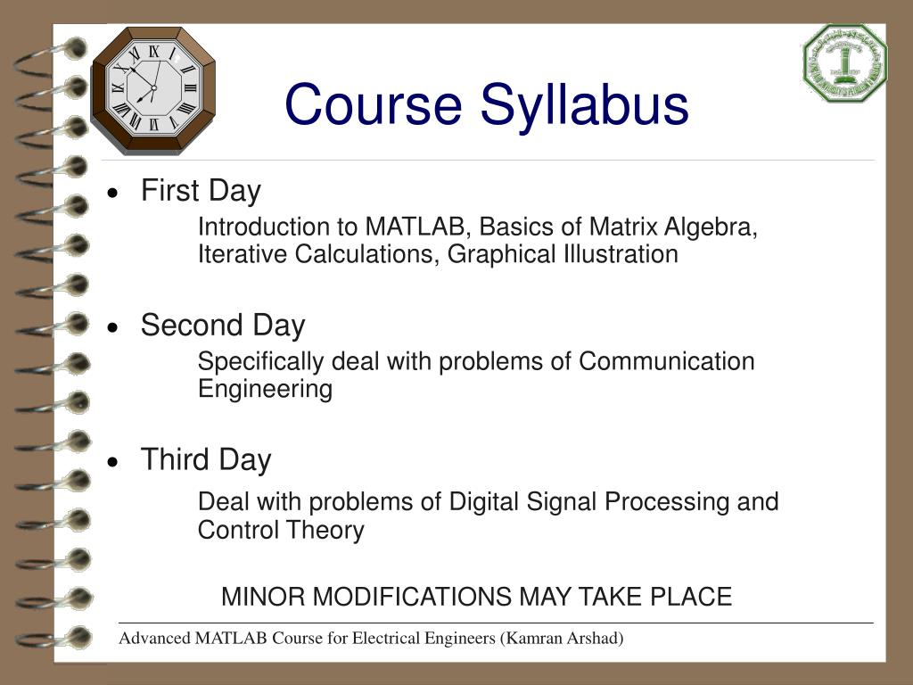 PPT - Advanced MATLAB (for Electrical Engineers) PowerPoint