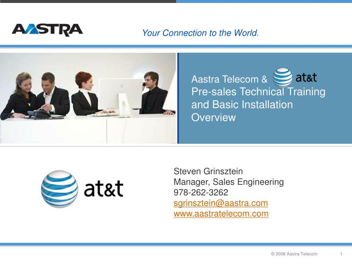 aastra telecom pre sales technical training and basic installation overview n.