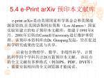5 4 e print arxiv