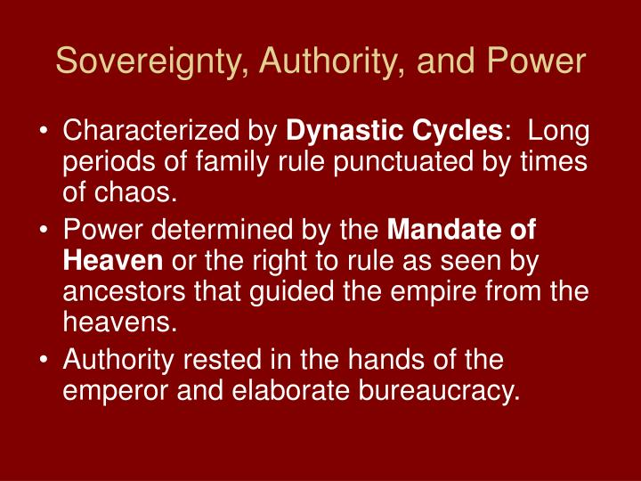 Sovereignty authority and power