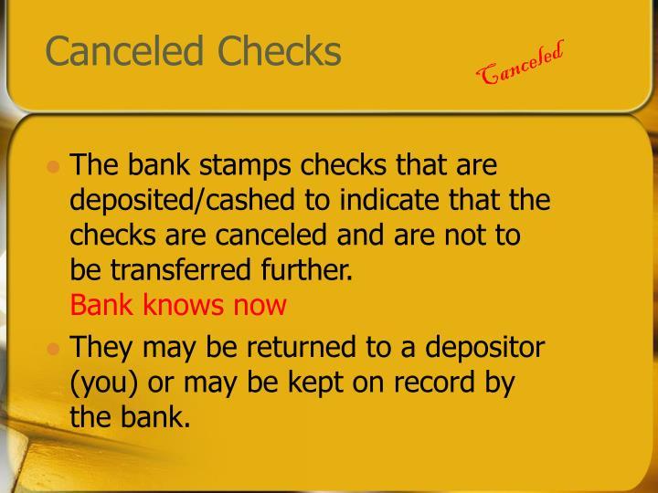 Canceled checks