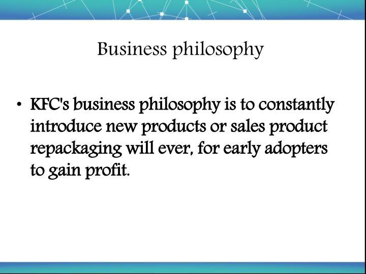 kfc philosophy