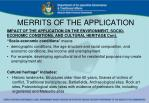 merrits of the application1