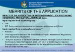 merrits of the application2