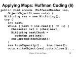 applying maps huffman coding 6