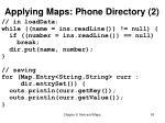 applying maps phone directory 2