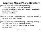 applying maps phone directory
