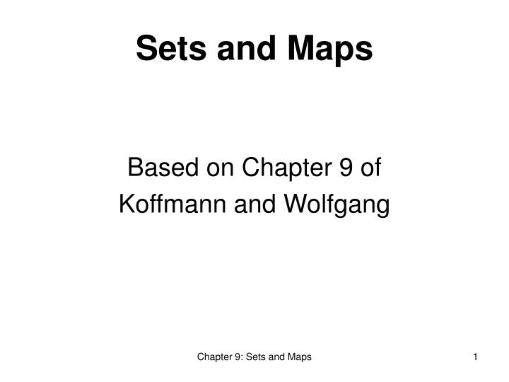 based on chapter 9 of koffmann and wolfgang n.