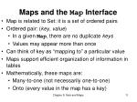 maps and the map interface