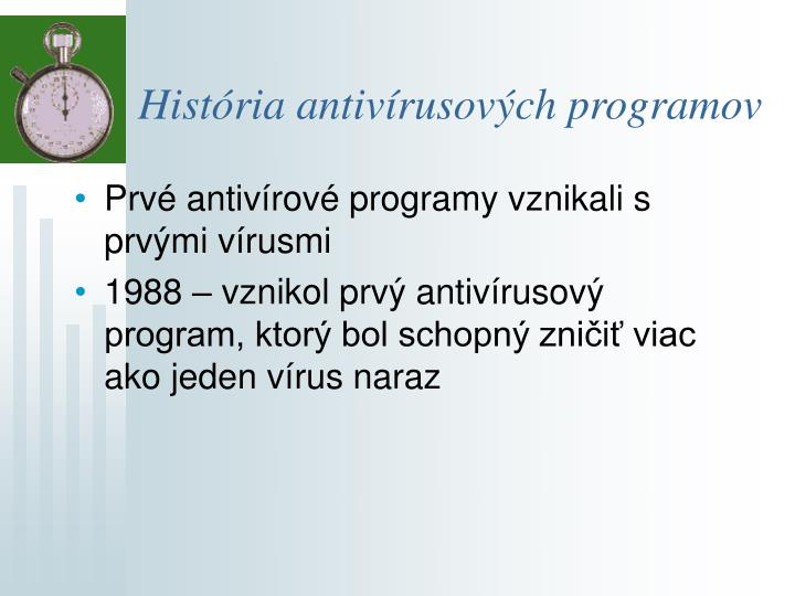 História antivírusových programov