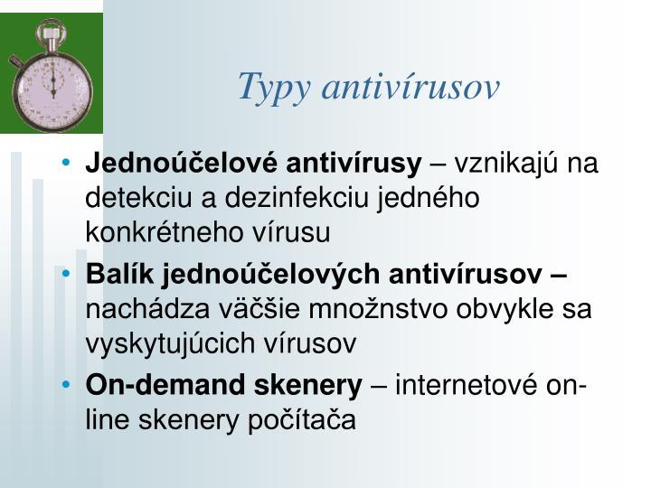 Typy antivírusov
