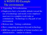 a win95 pd example the environment