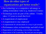 how do other types of organizations get better results