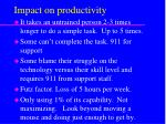 impact on productivity