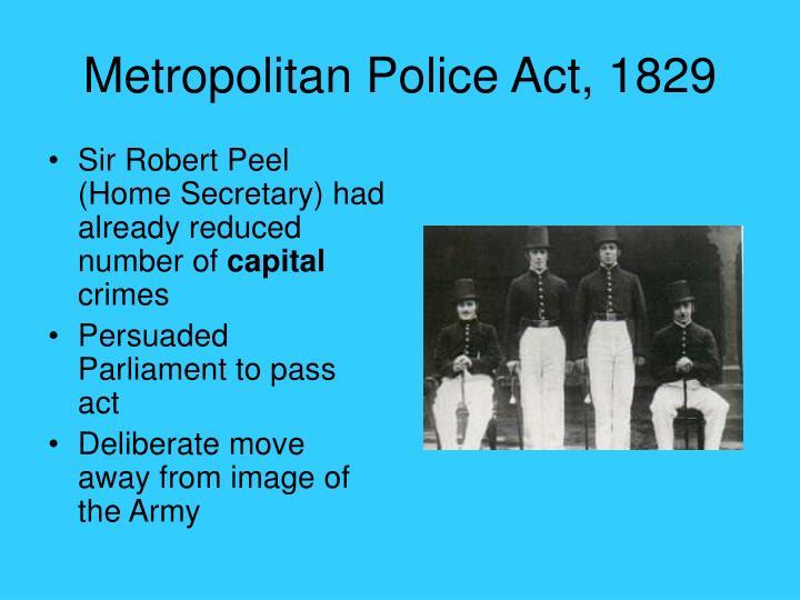 Metropolitan Police Act, 1829