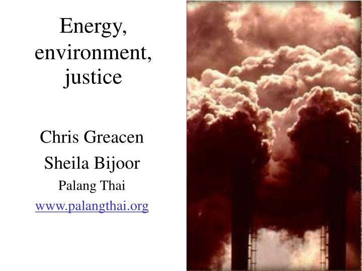 energy environment justice n.