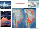 polar ice melting